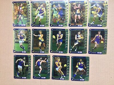2016 AFL Teamcoach Gold Silver Team Set Westcoast Eagles