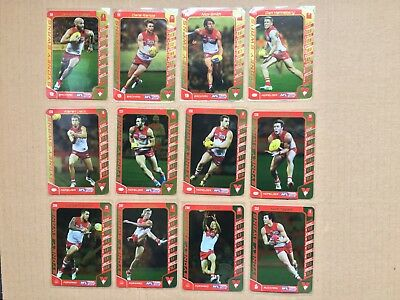 2016 AFL Teamcoach Gold Silver Team Set Sydney Swans