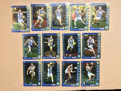 2016 AFL Teamcoach Gold Silver Team Set North Melbourne Kangaroos