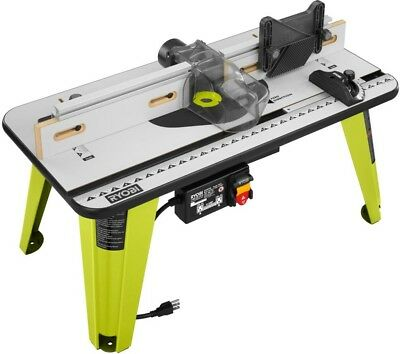 Ryobi universal router table w 5x throat plates vacuum port ryobi universal router table fence outfitted compatible includes 5 throat plates greentooth Image collections