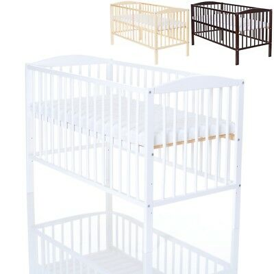 Baby Cot 120 x 60 cm Wodden Baby Bed with mattress 120x60x6 - 3 color available