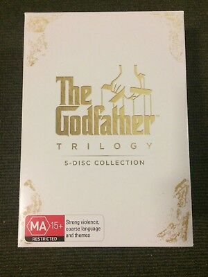 The Godfather Trilogy | 5-Disc Box Set Collection | DVD R4 | Very Good Condition
