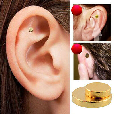 2Pairs Quit Smoking Auricular Ear Magnet Therapy Smoke Weight Loss Acupressure#