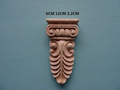 Decorative large wooden corbel drop furniture moulding appliques F375