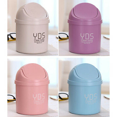 2017 NEW Mini Desktop Can Waste Bins With Lid Household Clean Trash Desk