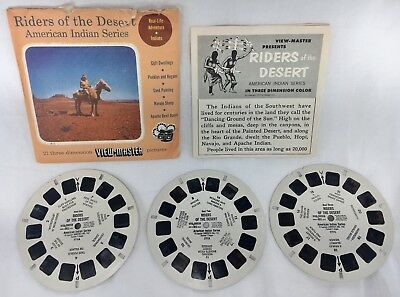 1957 SAWYER'S Vintage RIDERS Of The DESERT American Indian VIEW-MASTER Reels Set