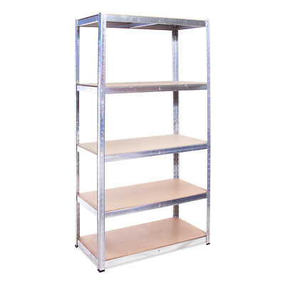 5 Tier Galvanised Metal Garage Shed Shelving Racking Shelf Unit 180 x 90 x 45cm