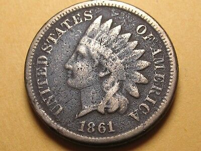 1861 P Copper Nickel INDIAN Cent * PHILADELPHIA MINT * NICE ORIGINAL COIN