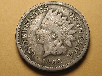 1862 P Copper Nickel INDIAN Cent * PHILADELPHIA MINT * NICE ORIGINAL COIN