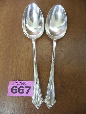 Vintage Walker & Hall Silver Plated ALBANY Pattern 21.5 cm Table Serving Spoons