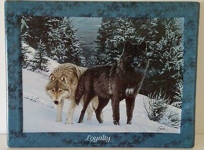 """Bradford Exchange """"Loyalty"""" Wolves ~ 1st issue Lifemates by Dan Smith"""