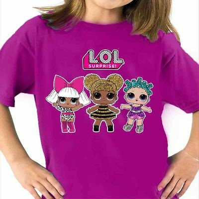 T-Shirt Lol Surprise Doll Ball Diva Glitter Bambola Sorpresa T Shirt Maglietta