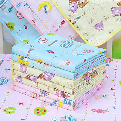 AL_ Baby Waterproof Urine Mat Cover Cotton Reusable Washable Changing Pad Natura