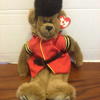 TY MALCOLM Royal Guard BEAR 'March to a Different Drum!'' With Tag 36cm