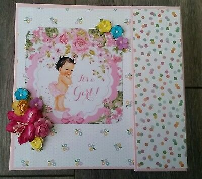 Baby Girl Photo Album , Scrapbook Mini Album , First Year Baby Book CLEARANCE