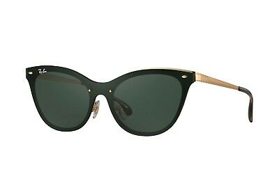 5e3f341c09c Ray Ban Blaze Cat Eye RB3580N Gold Frame Green Classic 43mm Lens Sunglasses