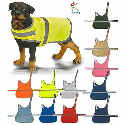 Yoko Hi-Vis Dog Vest High Visibility Pet Safety Reflective Hi-Viz Coat 11 Colour