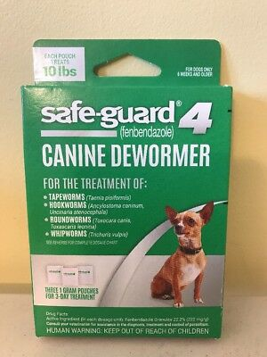 8 In 1 Safe Guard 4 Canine Dewormer for Small Dogs Free Shipping Factory Sealed