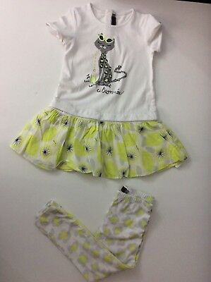 CATIMINI Girls Outfit Set Leggings & Top Age 3 Years Size 98