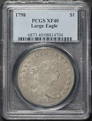 1798 Large Eagle Draped Bust Silver Dollar PCGS XF-40 -113647