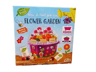 Grafix Grow & Paint Your Own Flower Garden - Creative Toy - Educational - Craft