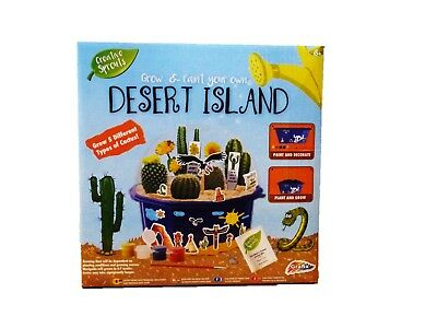 Grafix Grow & Paint Your Own Desert Island - Children's Creative Toy - Craft