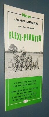 JOHN DEERE NO. 70 SERIES FLEXI-PLANTER Vintage Ag Farm Sales Brochure 1956 VG