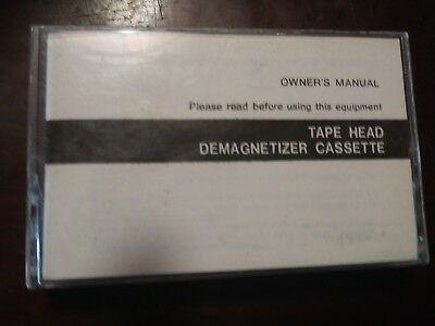 cassette demagnetizer with instruction. Book untested. As-is