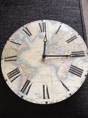Laura ashley world map wall clock brand new 2250 picclick uk laura ashley world map wall clock brand new gumiabroncs Gallery