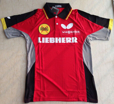 SHIRT; GERMANY BUTTERFLY Table Tennis Shirt with LOGO Size 3XL (sizes run small)