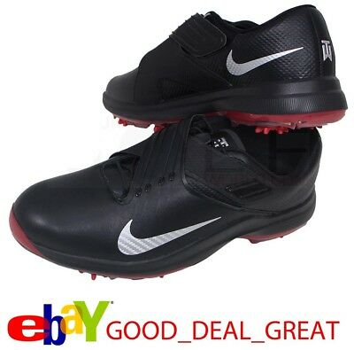 Nike TW 17  Tiger Woods Mens Golf Shoes Spikes Black Silver Red 880955-001 d618e08b8