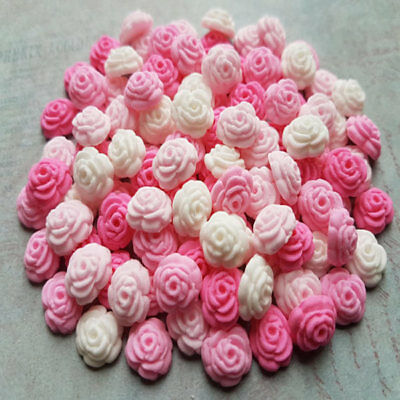 100 edible sugar tiny roses sprinkles cake cupcake toppers decorations pink