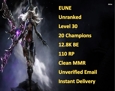 Lol Euw Account Lvl 30 Unranked 30k Be - Imagez co