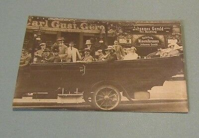 Vintage Pre-WWII Berlin Germany Automobile Tour RPPC Real Photo Postcard Travel