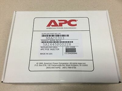 NEW SEALED APC NetBotz Power Over Ethernet PoE Injector NBAC0303