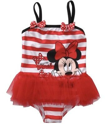 NWOT Todddler Girl One Piece Swimsuit Tutu Minnie Mouse  3T  USA SHIPPING