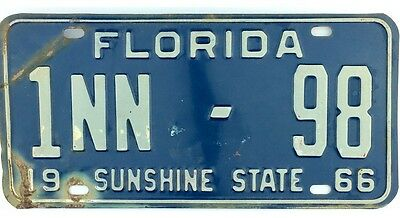 99 CENT SALE 1966 Florida RENTAL TRAILER License Plate Dade County 98 NR
