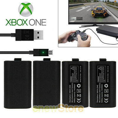 2Pack For Official Microsoft XBOX ONE Play and Charge Kit Xbox One NEW