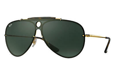 2eb5db8853f Ray Ban Blaze RB3581N 001 71 Gold Frame Green Classic 32mm Lens Sunglasses