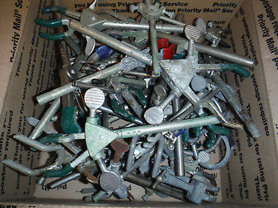 Large Lot Of used  Lab Glass Clamps Support Rings, clamp, ring