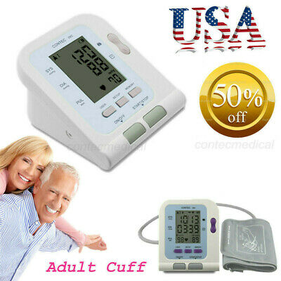 FDA CONTEC Digital blood pressure Monitor Upper Arm NIBP Adult Cuff+Software,USA