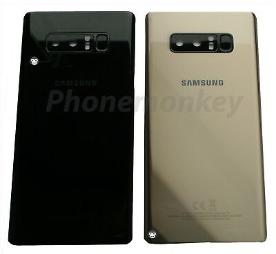 Genuine Samsung NOTE 8 N950 Rear Back Glass Battery Cover Camera LENS Panel