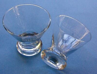 Lot/2 GREY GOOSE VODKA 4-Ounce Clear Martini Rocks Drink Glass w/ Frosted Logo