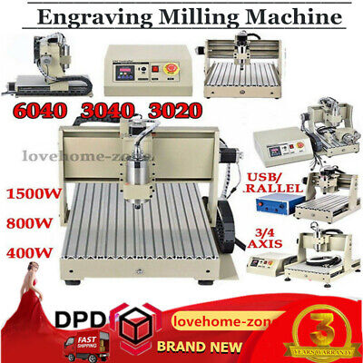 3/4 Axis CNC 6040 3040 Router Engraver 0.8/1.5KW Engraving Milling Machine HOT!!