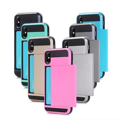 Shockproof Wallet Credit Card Pouch Holder Case Cover For iPhone X