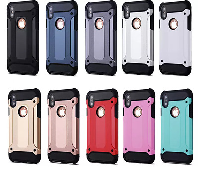 Case Dual Layer Armor Hybrid Rugged Rubber Shockproof Phone Cover For iPhone X