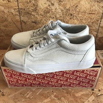75fc2c3de8fe08 VANS OLD SKOOL Leather Mono Ice Flow Size 11 New In Box -  44.96 ...
