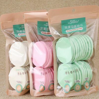 20Pcs Soft Cleansing Sponge Natural Face Wash Puff Facial Cleaning Pad Tools New