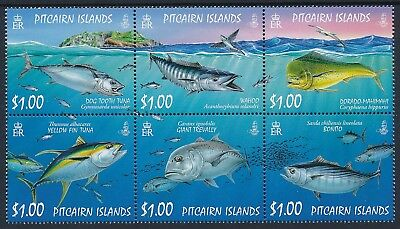 2007 Pitcairn Island Ocean Fish Block Of 6 Fine Mint Mnh