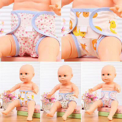 Cartoon Duck Frog Magic Tape Cotton Washable Infant Baby Diaper Cover Pants Uk